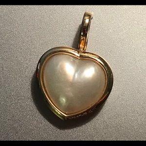 14 karat Mabe pearl enhancer pendant